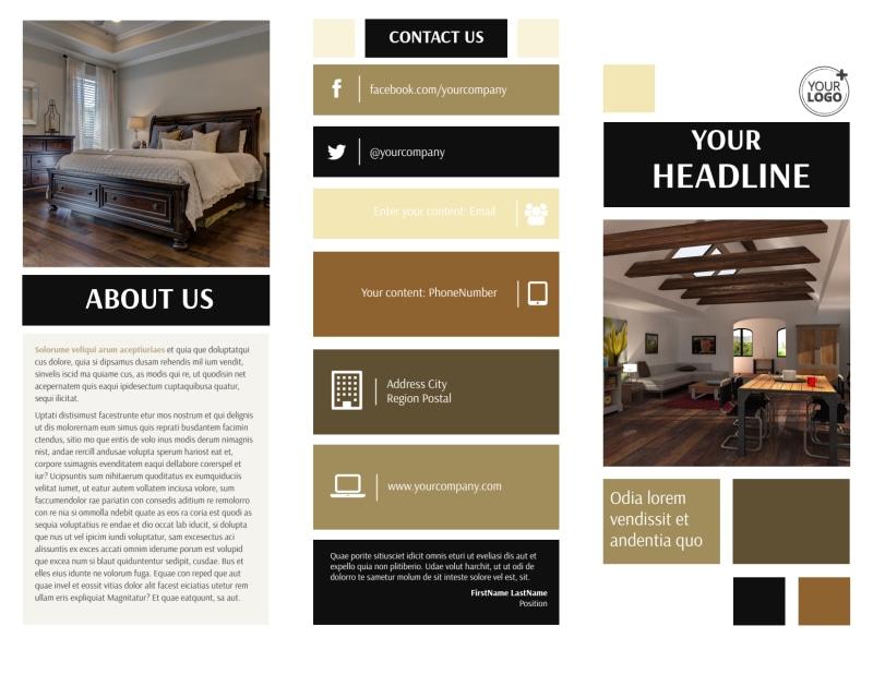 Hardwood Floors Brochure Template Preview 2