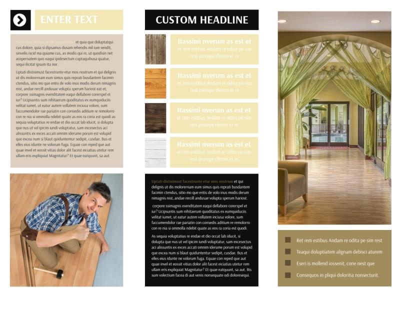 Hardwood Floors Brochure Template Preview 3