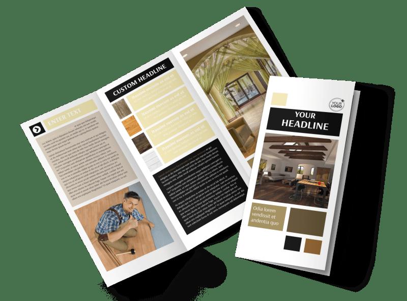 Hardwood Floors Brochure Template Preview 1