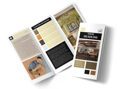 Hardwood Floors Tri-Fold Brochure Template preview