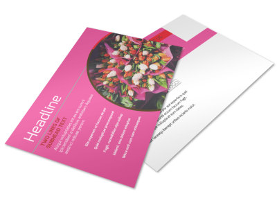 Flower Shop Postcard Template 2 preview