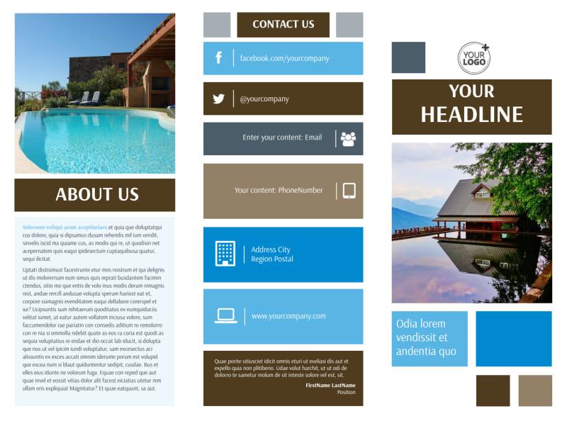 Sunny Villa Rental Brochure Template Preview 2