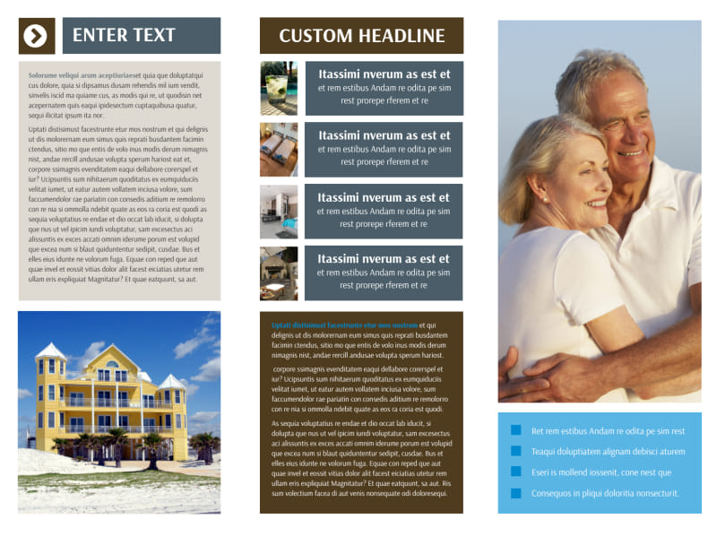 Sunny Villa Rental Brochure Template Preview 3