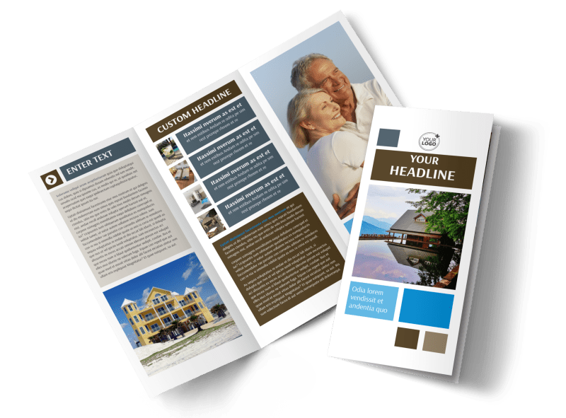 Sunny Villa Rental Brochure Template Preview 1