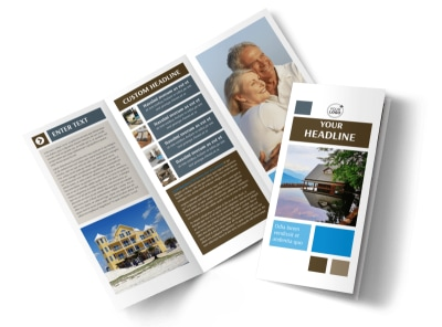 Sunny Villa Rental Tri-Fold Brochure Template