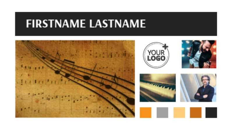 Music School Business Card Template Preview 2