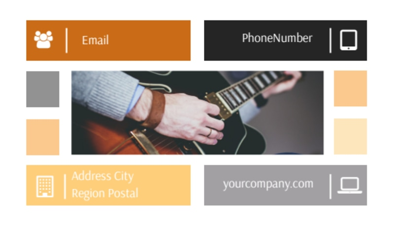 Music School Business Card Template Preview 3