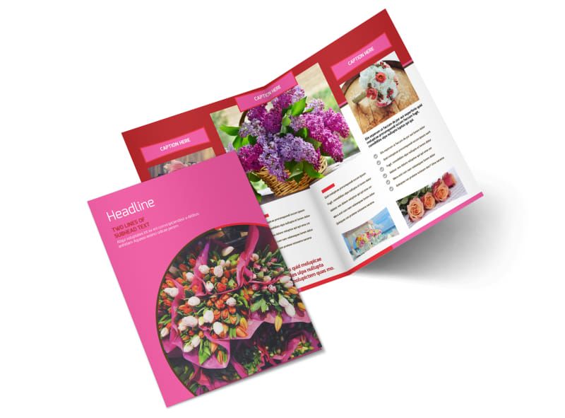 Florists & Flower Delivery Service Brochure Template Preview 4