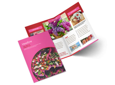 Flower Shop Bi-Fold Brochure Template 2 preview