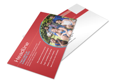 Christian Summer Camp Postcard Template 2 preview