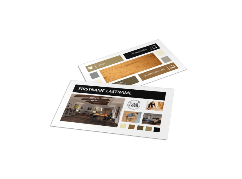Hardwood Floors Business Card Template