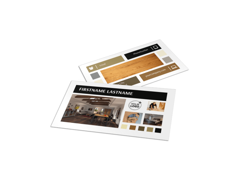 Hardwood Floors Business Card Template Preview 1