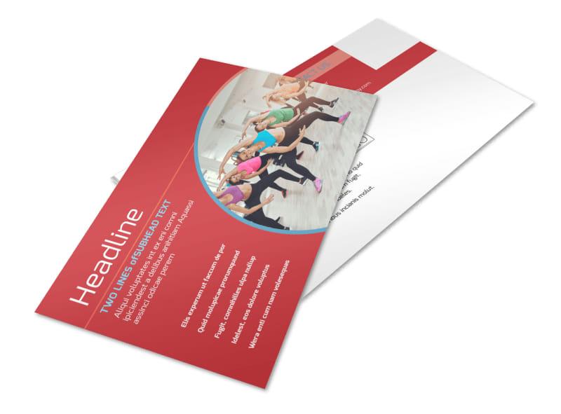 Adult Aerobics Class Postcard Template 2