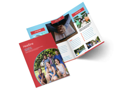 Christian Summer Camp Bi-Fold Brochure Template 2 preview