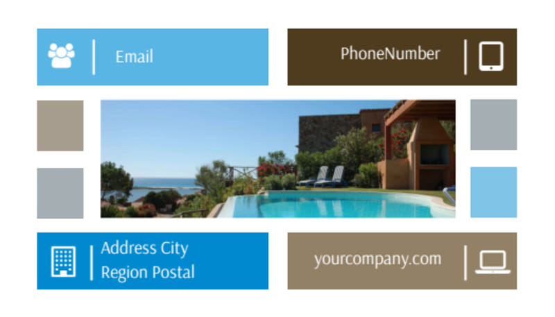 Sunny Villa Rental Business Card Template Preview 3