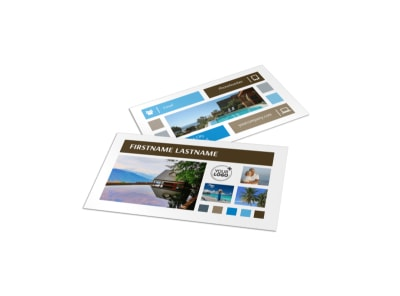 Sunny Villa Rental Business Card Template