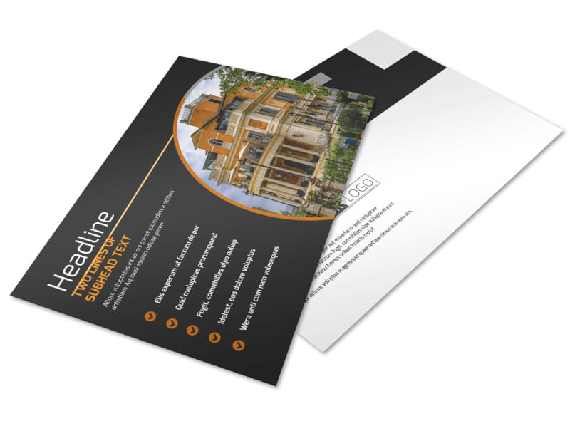 Bed & Breakfast Postcard Template Preview 4
