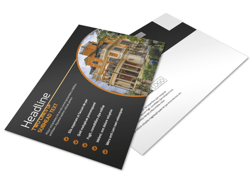Bed & Breakfast Postcard Template Preview 1