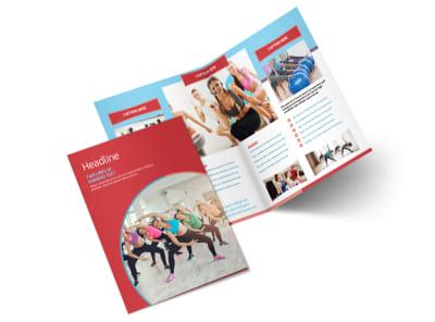 Adult Aerobics Class Bi-Fold Brochure Template 2