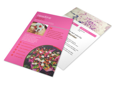 Flower Shop Flyer Template 3