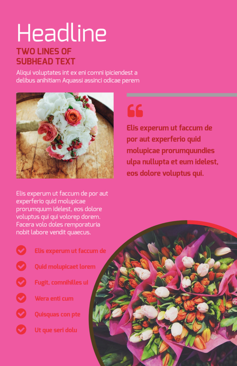 Florists & Flower Delivery Service Flyer Template Preview 2
