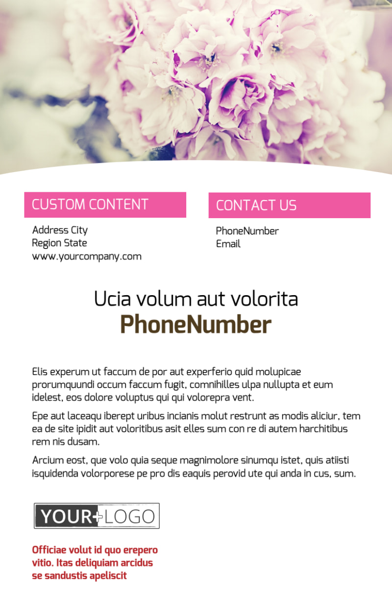 Florists & Flower Delivery Service Flyer Template Preview 3