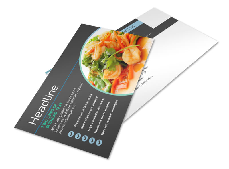 Fine Dining Catering Postcard Template 2