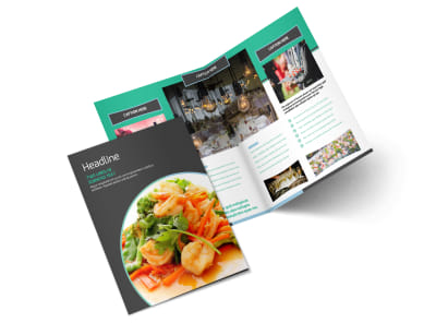 Fine Dining Catering Bi-Fold Brochure Template 2 preview