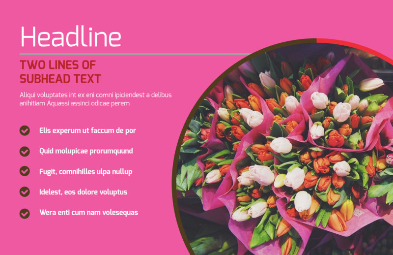 Florists & Flower Delivery Service Postcard Template Preview 2