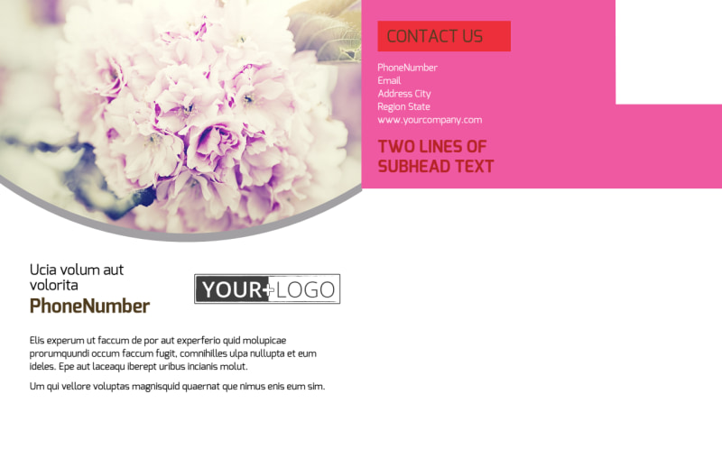 Florists & Flower Delivery Service Postcard Template Preview 3