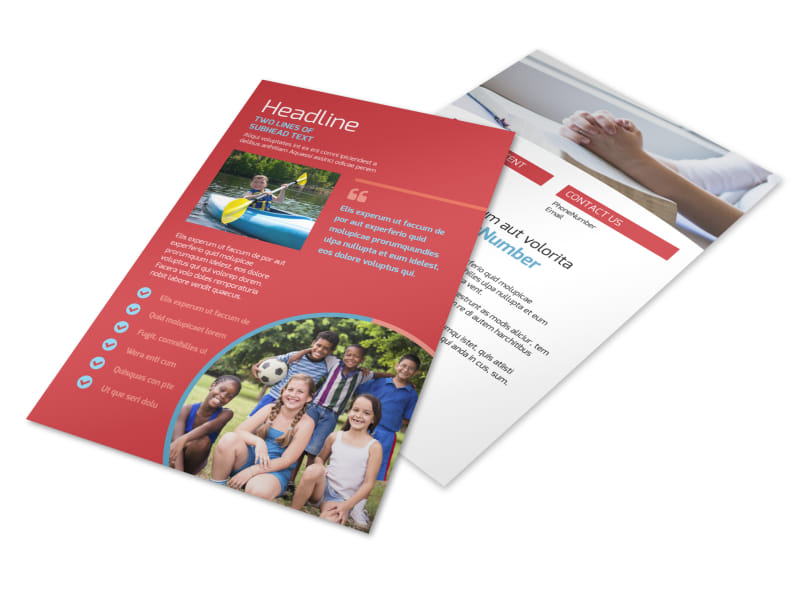 Christian Summer Camp Flyer Template Preview 4