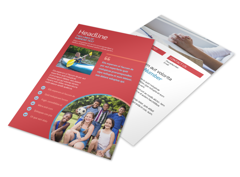 Christian Summer Camp Flyer Template Preview 1