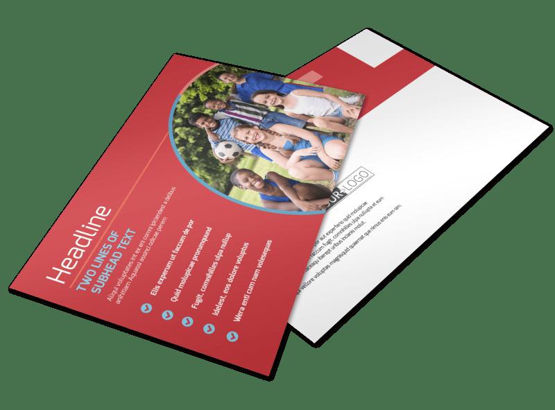Christian Summer Camp Postcard Template Preview 1