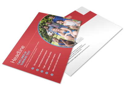 Christian Summer Camp Postcard Template preview