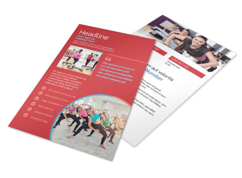 Adult Aerobics Class Flyer Template 3