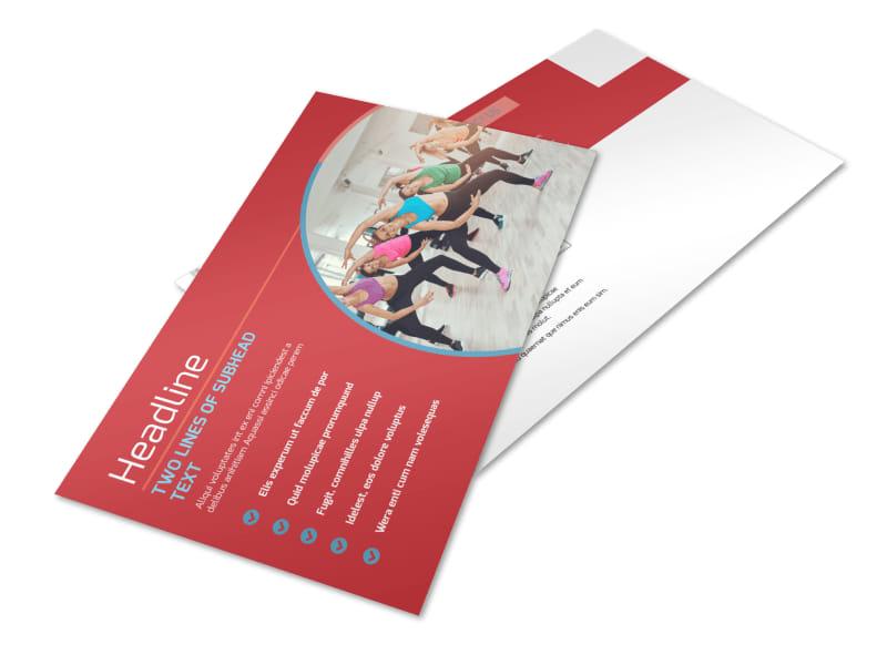 Adult Aerobics Class Postcard Template Preview 4