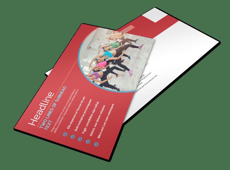 Adult Aerobics Class Postcard Template Preview 1