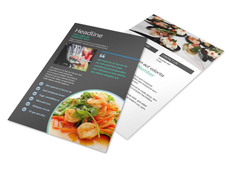 Fine Dining Catering Flyer Template 3