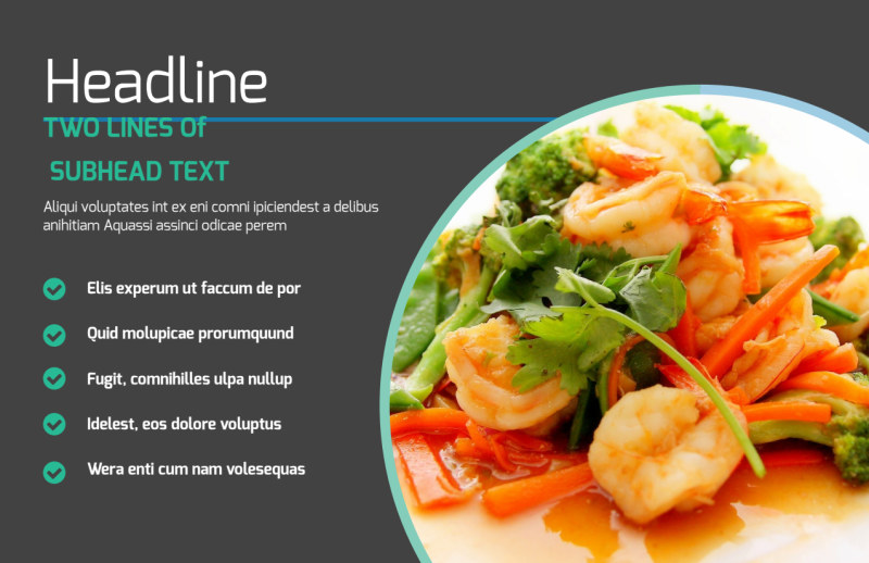 Fine Dining Catering Postcard Template Preview 2