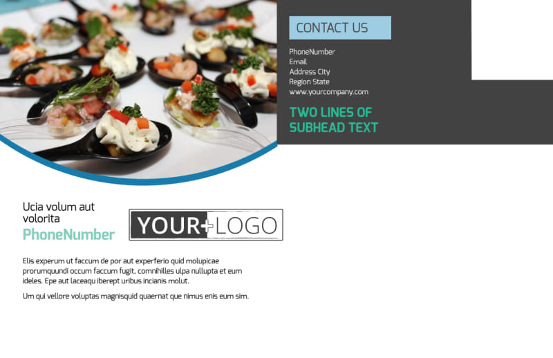 Fine Dining Catering Postcard Template Preview 3