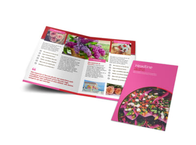 Flower Shop Bi-Fold Brochure Template preview