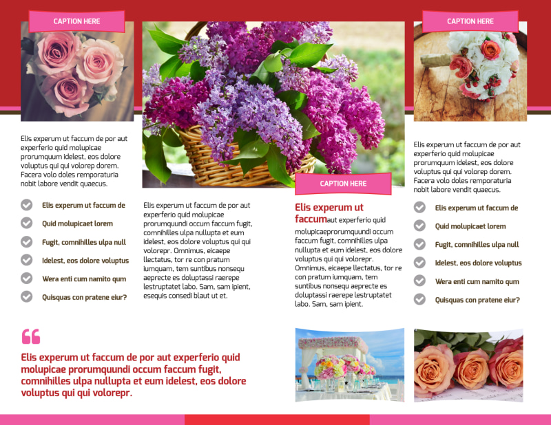 Florists & Flower Delivery Service Brochure Template Preview 3
