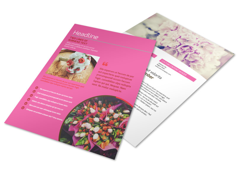 Florists flower delivery service flyer template mycreativeshop flower shop flyer template cheaphphosting Gallery