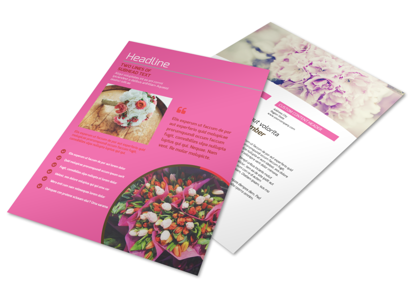Florists & Flower Delivery Service Flyer Template Preview 1