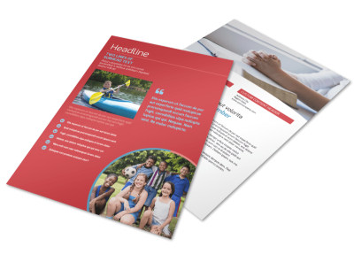 Christian Summer Camp Flyer Template preview