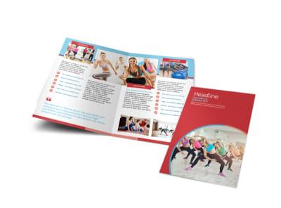Adult Aerobics Class Bi-Fold Brochure Template