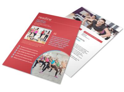 Adult Aerobics Class Flyer Template