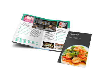 Fine Dining Catering Bi-Fold Brochure Template preview