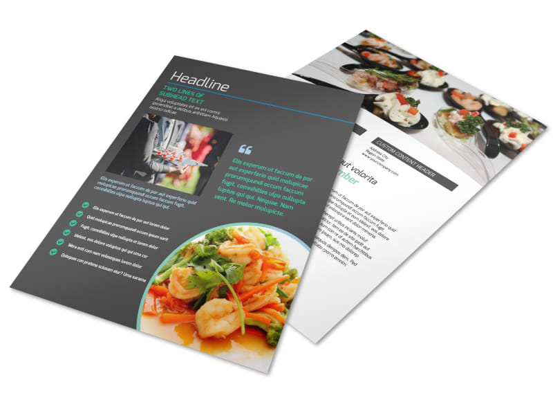 Fine dining catering flyer template mycreativeshop fine dining catering flyer template saigontimesfo