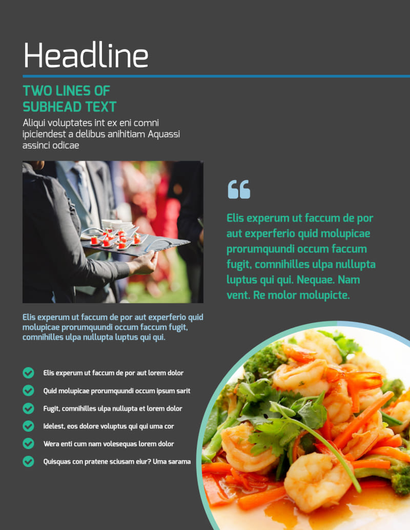 Fine Dining Catering Flyer Template Preview 2